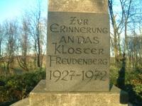 Gedenkstein Kloster Freudenberg